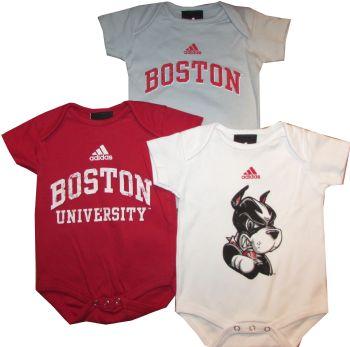 Boston University Terriers 3pc Creeper Set Infant Baby Bodysuit