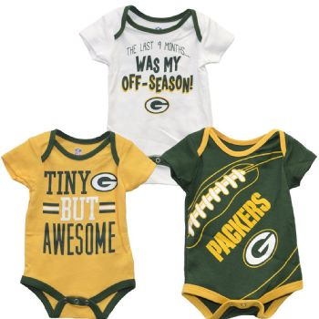 Green Bay Packers 3pc Creeper Set Baby Awesome Clothes NFL ... 66300daaf