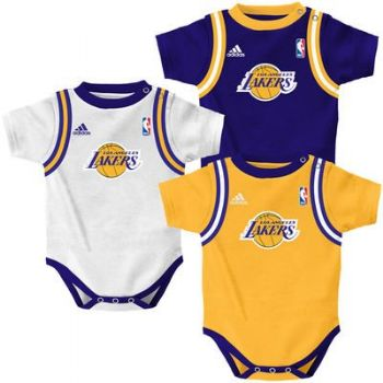 08e2aaa0f02 Lakers Baby Creeper NBA 3pc Jersey Tank Set Infant LA Los Angeles Clothes  Bodysuit