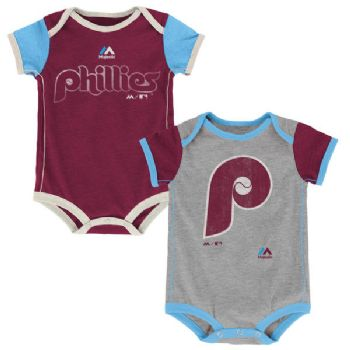 classic fit 4a107 87c05 Philadelphia Phillies Baby 2pc Creeper Set Vintage Bodysuit ...