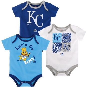 Kansas City KC Royals Coverall Infant Baby White