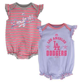 d851af659 LA Los Angeles Dodgers Baby Girls 2pc Creeper Pink Set Infant Team ...