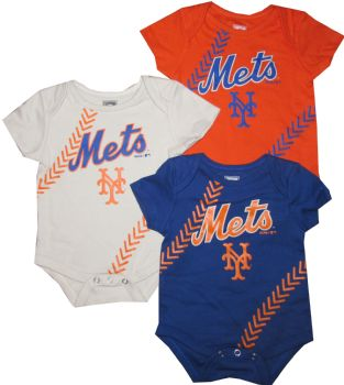 on sale 763fb 0fe76 New York Mets Baby 3pc Creeper Set Infant MLB Clothes ...