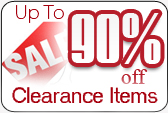 Up To 90% Off Clearance Items!