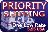 Priority Shipping - One Low Rate